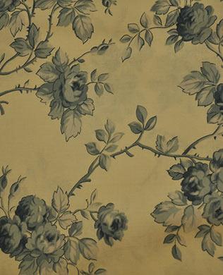 17591 Blue on Beige Roses