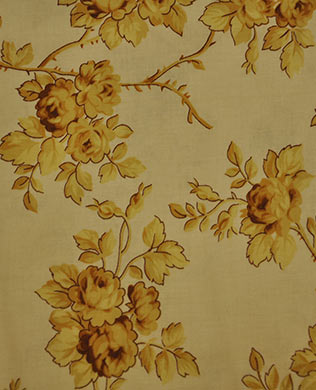 17592 Yellow on Beige Roses