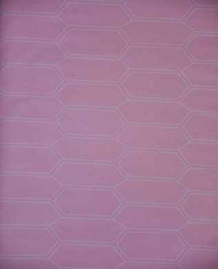 214280 41 Elongated Hex Pink
