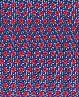 22151 49 Red on Navy Spot