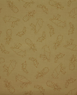 23104E Tan Bunny Toile