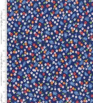 23308 16 Navy Floral