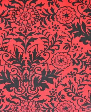 26106 RJ Damask Red Black
