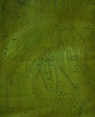 2664 1 Giraffe Green