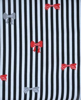 27003 J Stripes and Bow Black