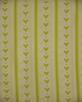 3005G Green Stripy Hearts