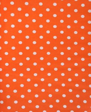 3053 Lge White Spots Orange