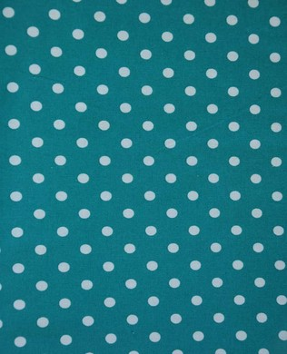 3053 Lge White Spots Teal