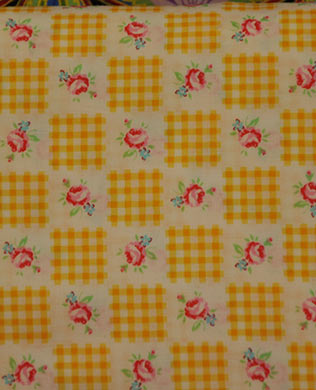3084450 Yellow Gingham Check