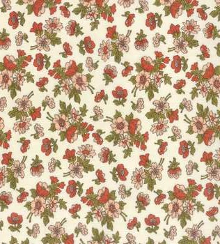 31104 11 Red Floral White