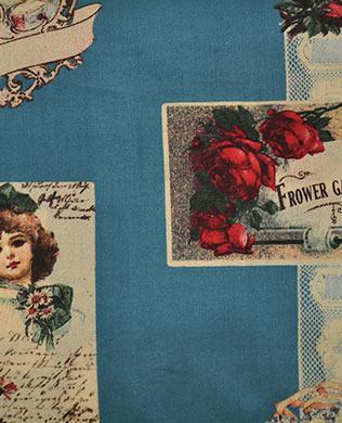 314676D Blue Lace Floral