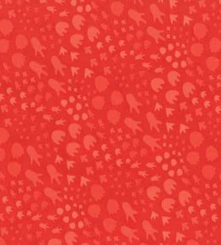 35292 18 Red Paw Prints