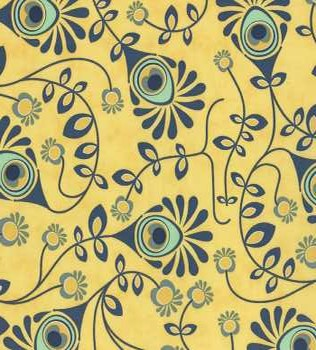 37092 16 Yellow Floral