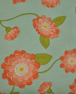 371002 Peach Flowers Blue