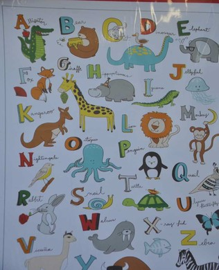 41322P Animal ABCs Panel