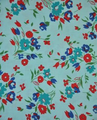 41862 3 Wild Flowers Aqua