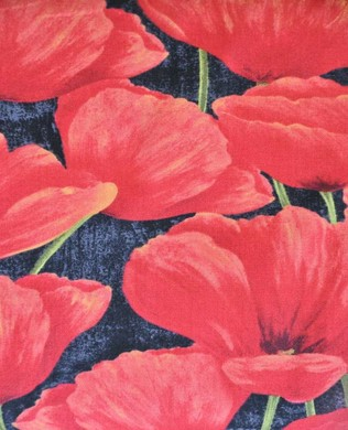 42429 937 Packed Poppies Black
