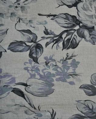 444660 E Grey Purple Floral