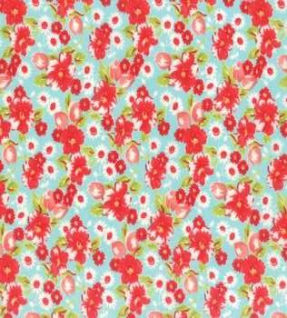 55130 12F Aqua Floral