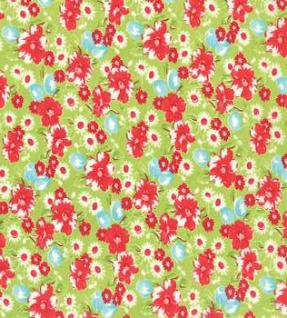 55130 14 Green Floral