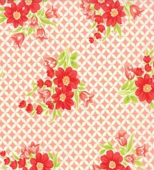 55146 13 Coral Grid with Flowers