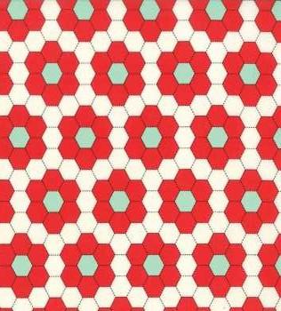 55148 27 Red Hexagons