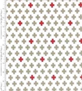 5681 22 White Grey Cross