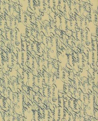 6056 13 Ivory Quilt Script