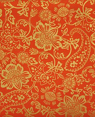 6419M33 Floral Orange