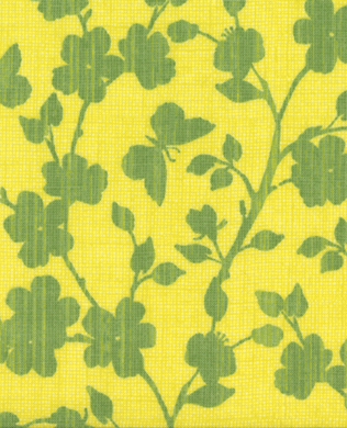 717618 Yellow Green Floral
