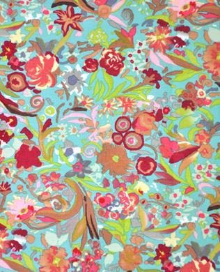 7348B Brown Multi Floral