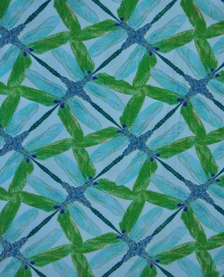 8502 84 Pinwheel Aqua Green