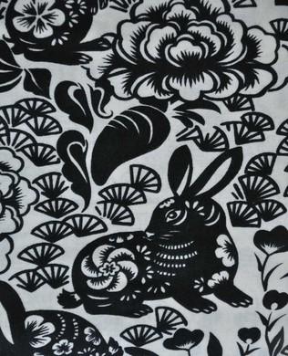 8561 A Tea Blk Usagi Rabbit