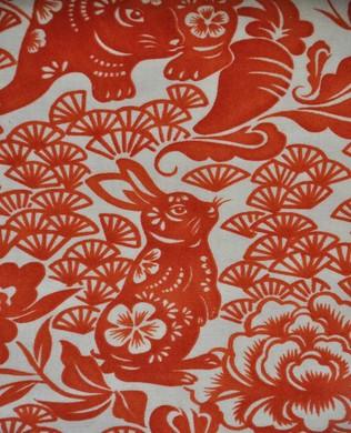 8561 B Tea Red Usagi Rabbit