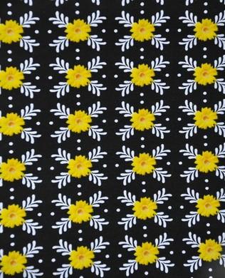 8738 12 Yellow Daisy Motif