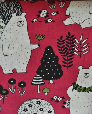 8909 2 Forest Friends Pink