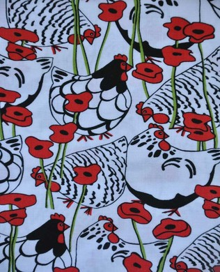 89140 Happy Hens and Poppies