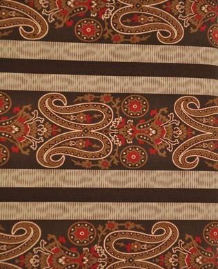 910177 Paisley Stripe Brown