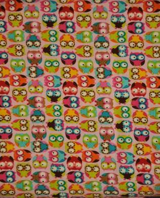 9307 Mini Owls Pink