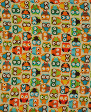 9307A Mini Owls Beige