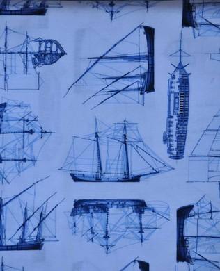 Blue Sail Boats