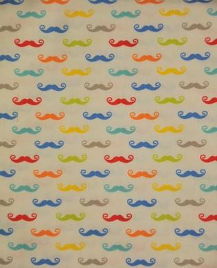 C52801 SML Multi Mustache W