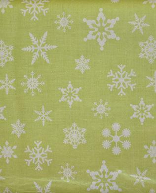 C566 Green Snowflakes