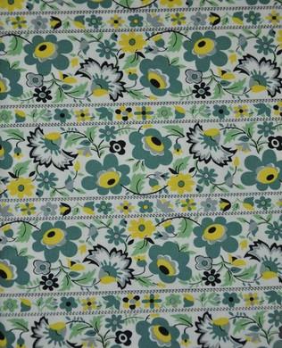 DS099 Floral Stripe Juniper