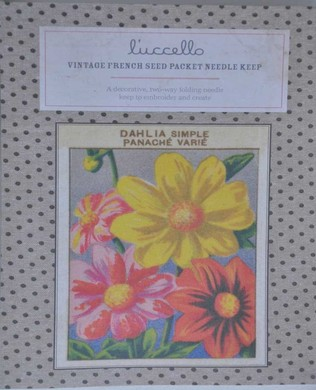 French Seed Packet Dahlia