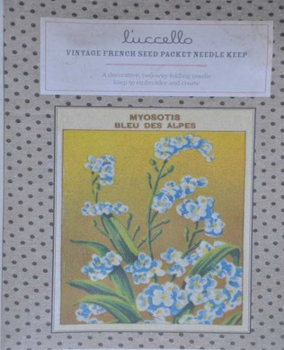 French Seed Packet Forget Me Not