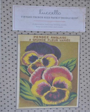French Seed Packet Pansy