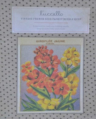 French Seed Packet Wallflower