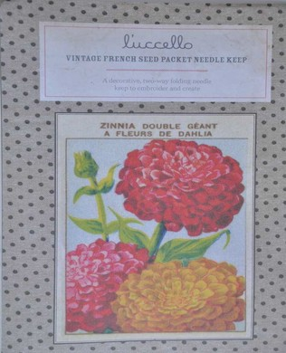 French Seed Packet Zinnia