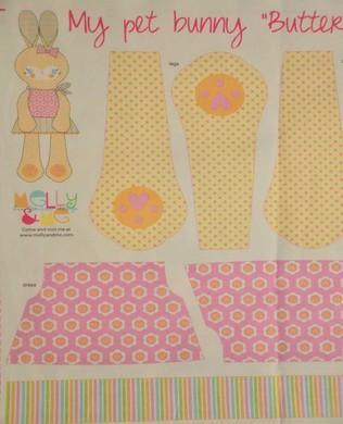 P3732 Bunny Panel Yellow